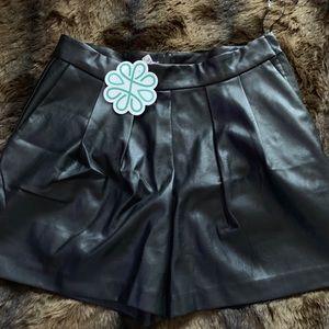 Shop hopes high waisted faux leather shorts